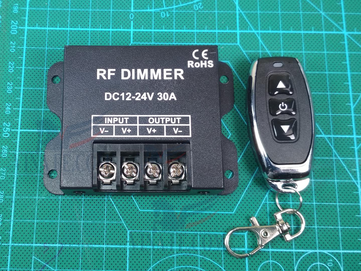 Dimmer Điều Khiển Cuộn Dây Led Từ Xa bằng RF-12-24V 30A
