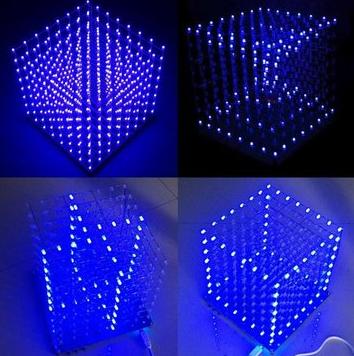 LED Ma Trận 8X8X8 Tự Ráp DIY