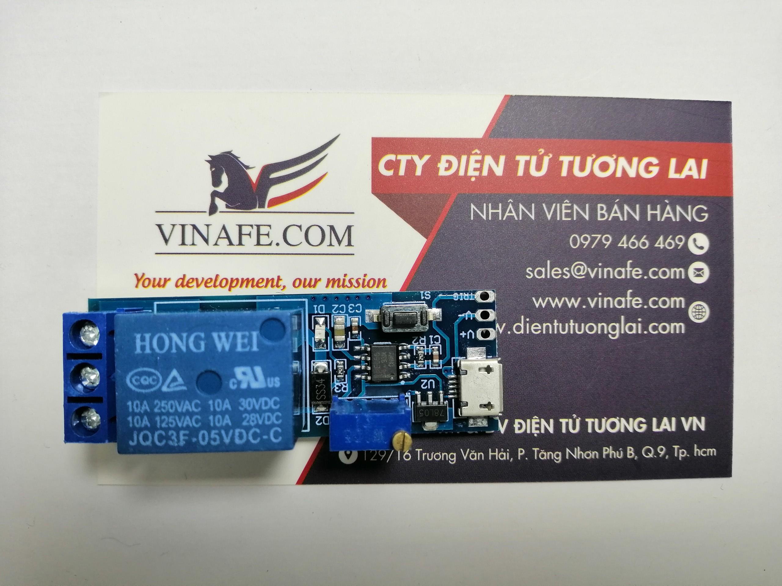 Module Kích Tạo Trễ  Đóng Ngắt 0-24 Giây 5-30V Cổng USB